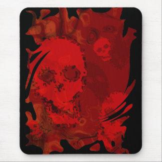 Skull Spectres Red swirl mousepad