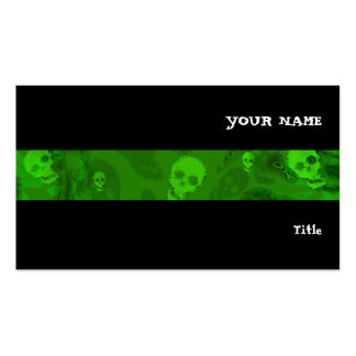 Skull Spectres stripe horizontal black Pack Of Standard Business Cards
