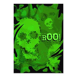 Skull Spectres swirl 'BOO!' invitation