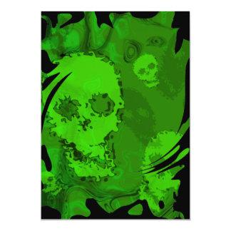 Skull Spectres swirl invitation