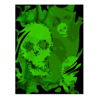 Skull Spectres swirl  postcard