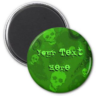 Skull Spectres 'Your Text' fridge magnet