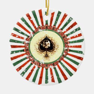 SKULL SUNBURST CHRISTMAS ORNAMENT