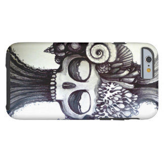 skull tattoo ocean art black sea surf style tough iPhone 6 case