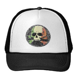 Skull w/ Irish Tricolor Flag Cap