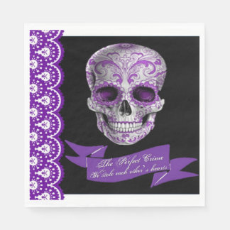 Skull Wedding Luncheon Napkin Paper Serviettes