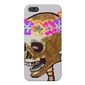 Skull with Flowers Case For iPhone 5/5S