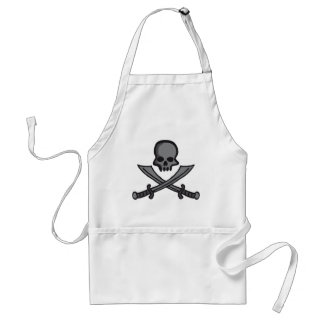 skull with swords apron