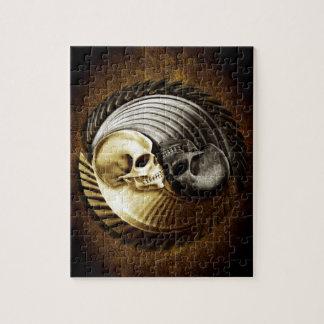 Skull Yin Yang Jigsaw Puzzle