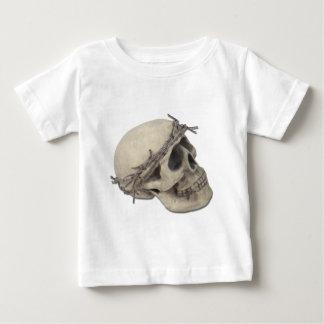 SkullBarbedWireCrown051411 Baby T-Shirt