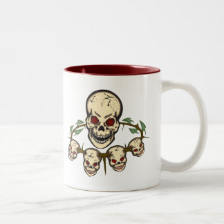 Skulls Day of the Dead Two-Tone Coffee Mug