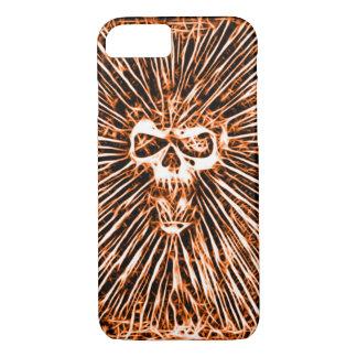 Skully Skull Hell Fire Fractal Art iPhone 7 Case