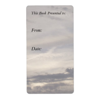 Sky and Clouds Bookplate Shipping Label