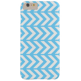 Sky Blue Chevron 3 Barely There iPhone 6 Plus Case