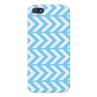 Sky Blue Chevron 3 Case For The iPhone 5