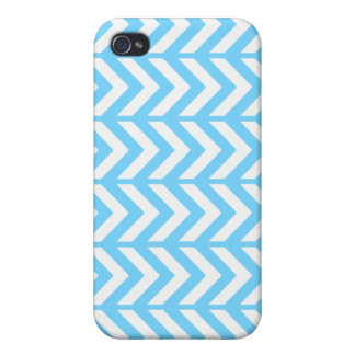 Sky Blue Chevron 3 Cases For iPhone 4
