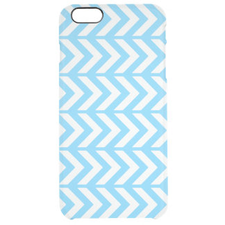 Sky Blue Chevron 3 Clear iPhone 6 Plus Case