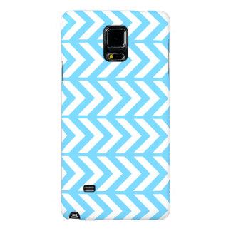 Sky Blue Chevron 3 Galaxy Note 4 Case