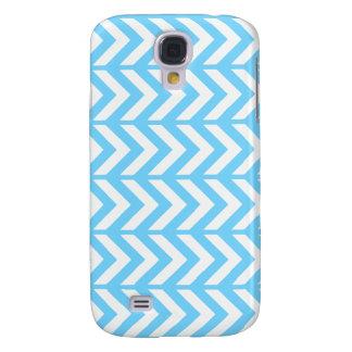 Sky Blue Chevron 3 Galaxy S4 Case