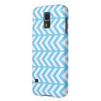 Sky Blue Chevron 3 Galaxy S5 Covers