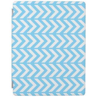 Sky Blue Chevron 3 iPad Cover