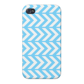 Sky Blue Chevron 3 iPhone 4/4S Cover