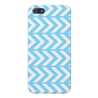Sky Blue Chevron 3 iPhone 5 Cases