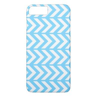 Sky Blue Chevron 3 iPhone 8 Plus/7 Plus Case