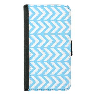 Sky Blue Chevron 3 Samsung Galaxy S5 Wallet Case