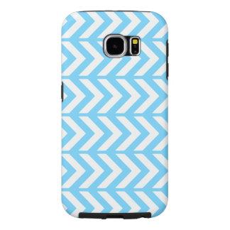 Sky Blue Chevron 3 Samsung Galaxy S6 Cases