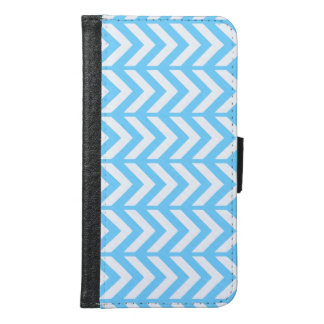 Sky Blue Chevron 3 Samsung Galaxy S6 Wallet Case