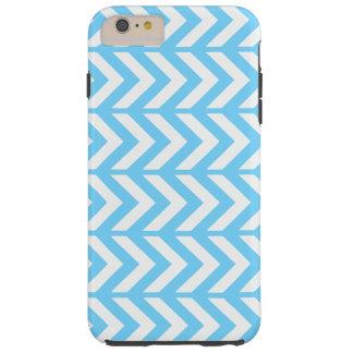 Sky Blue Chevron 3 Tough iPhone 6 Plus Case