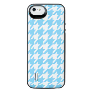 Sky Blue Houndstooth 1 iPhone SE/5/5s Battery Case