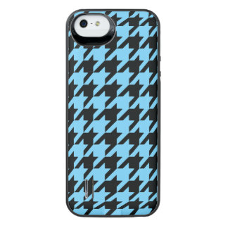 Sky Blue Houndstooth 2 iPhone SE/5/5s Battery Case