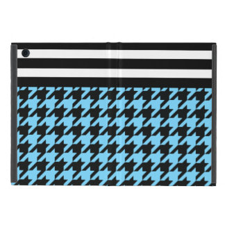 Sky Blue Houndstooth w/ Stripes 2 Cover For iPad Mini