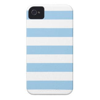 Sky Blue Stripes Pattern iPhone 4/4s Case