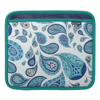 Sky Blue Tones Teardrops iPad Sleeve