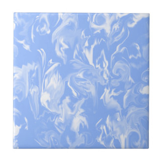 Sky Blue & White Mixed Color Tile