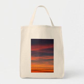 sky calm grocery tote bag