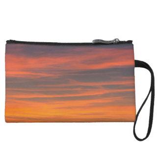 sky calm wristlet purse