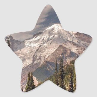 Sky Cold Peaceful Mountians Star Stickers