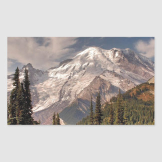 Sky Cold Peaceful Mountians Rectangular Stickers
