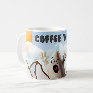 Sky diving ghost coffee mug