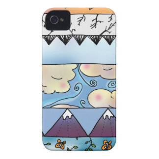 Sky Elements Pattern iPhone 4 Cases