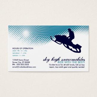 sky high snowmobiling business card
