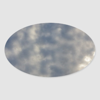 Sky images with ruffled soft clouds sticker