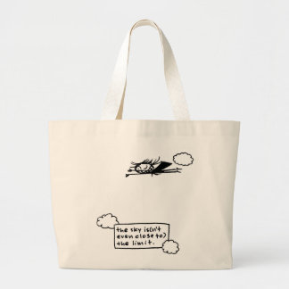 sky isn't even close to limit jumbo tote bag