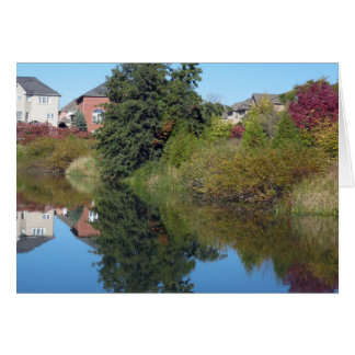SKY Landscape Water Flowerrs Lake Pond GIFTS fun Card