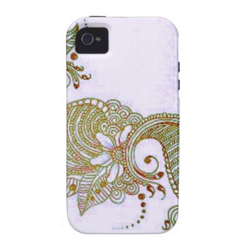 Sky Mehndi Vibe iPhone 4 Cover