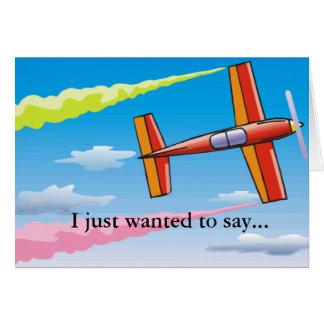 Sky Plane Set Card
